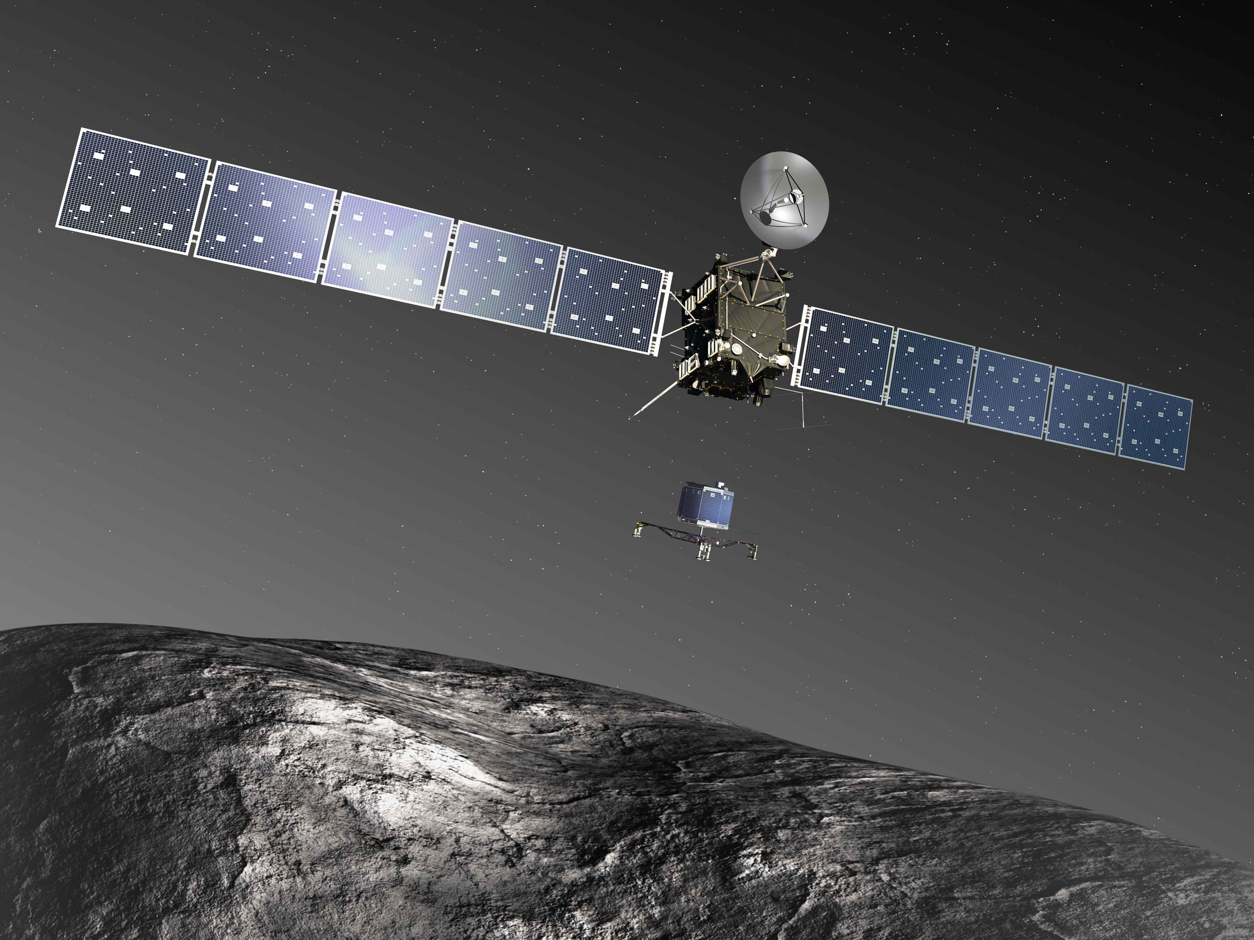 philae found! rosetta space science our activities esa - HD 4000×3000