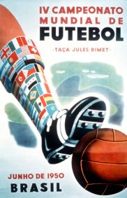 WORLD CUP OFFICIAL POSTER 1950