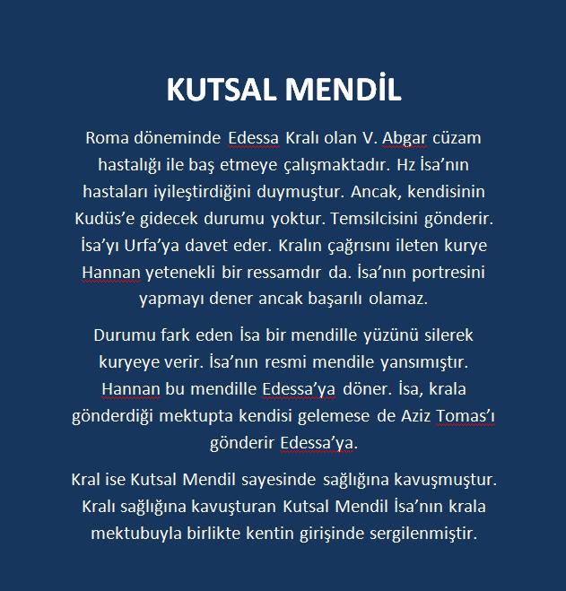 KUTSAL MENDİL